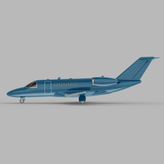 Leichte business jet seitenansicht 3d-modell