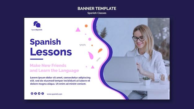 Lerne die spanische banner-vorlage