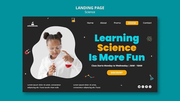 Lernen der zielseite der wissenschaft