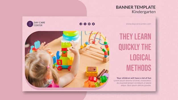 Lernen sie schnell kindergarten banner vorlage
