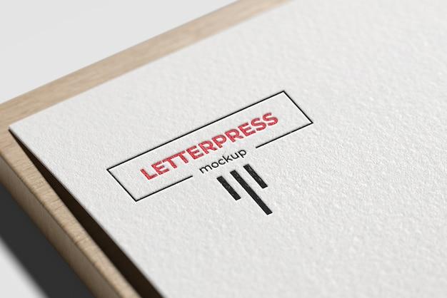Letterpress-logo-modell