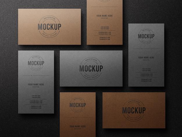 Letterpress luxus-logo-modell auf visitenkarte