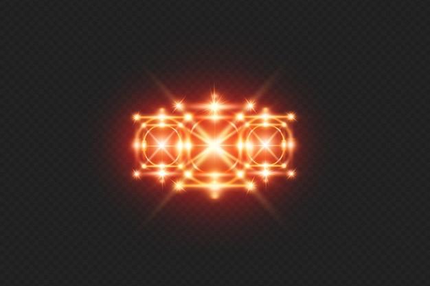 Leuchtender lichteffekt im realistischen stil