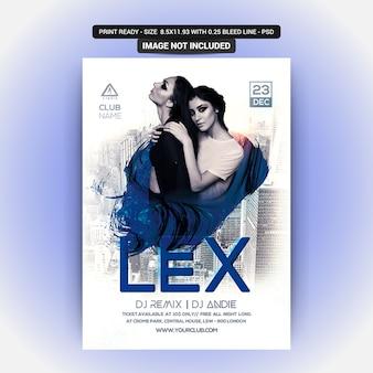 Lex poster für eine party