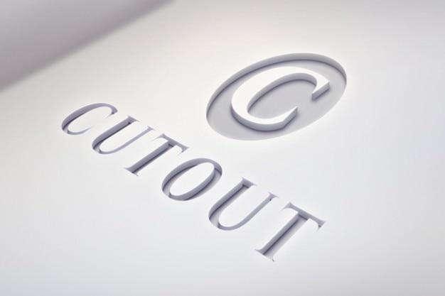 Licht logo mockup mit sauberen details