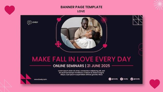 Liebe banner vorlage mit foto