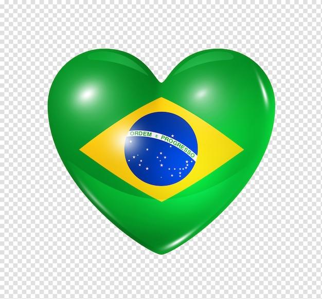 Liebe brasilien, herz flaggenikone Premium PSD