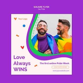 Liebe gewinnt immer quadratischen flyer