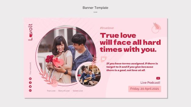 Liebe podcast banner vorlage
