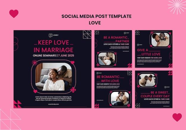 Liebe social media beiträge mit fotos