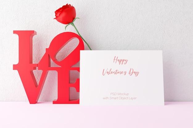 Liebe und valentinstag mit fotorahmen modell