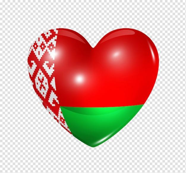 Liebe weißrussland, herzfahnensymbol
