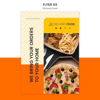 Lieferung food flyer vorlage