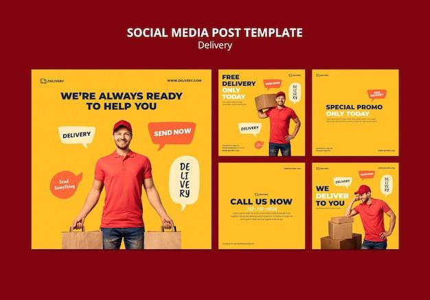 Lieferung social media post Premium PSD