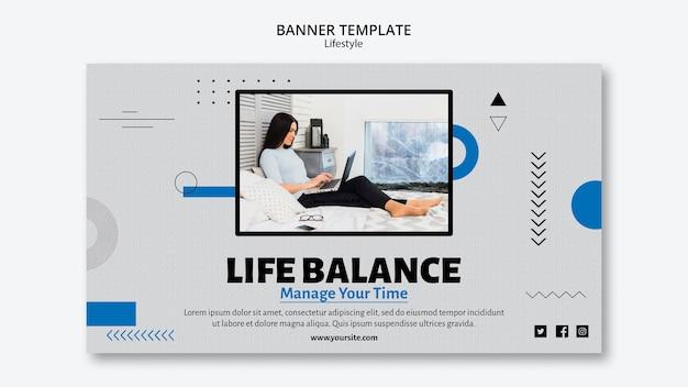 Life balance banner vorlage
