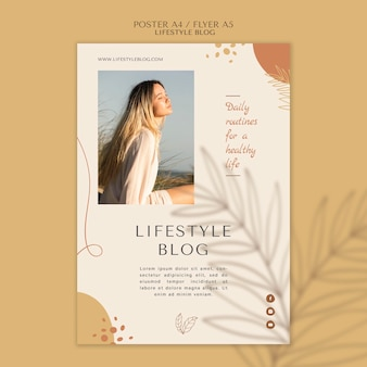 Lifestyle blog poster vorlage Kostenlosen PSD