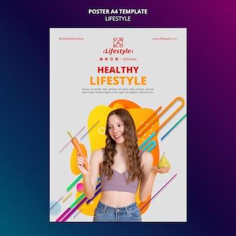 Lifestyle-design der postervorlage