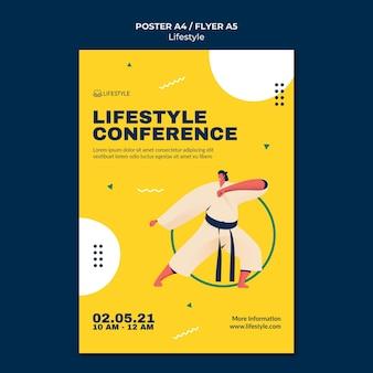Lifestyle-plakatvorlage