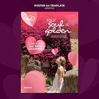 Lifestyle-poster-vorlagendesign
