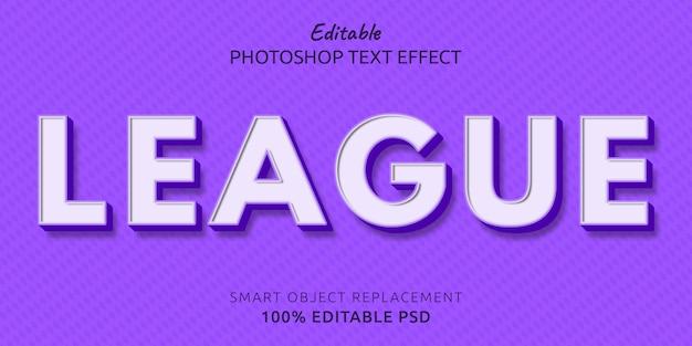 Liga bearbeitbarer psd-textstil-effekt
