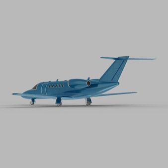 Light business jet zurück halbe seitenansicht 3d mockup