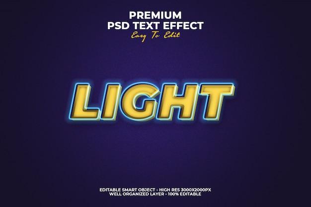 Light text effect premium psd