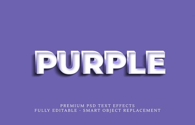 Lila textstil effekt psd, premium psd texteffekte