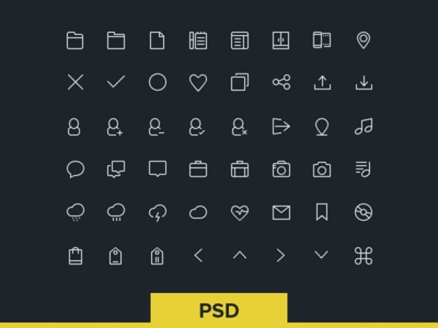 Linie icon-set psd