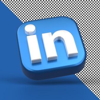 Linkden 3d app icon rendering isoliert