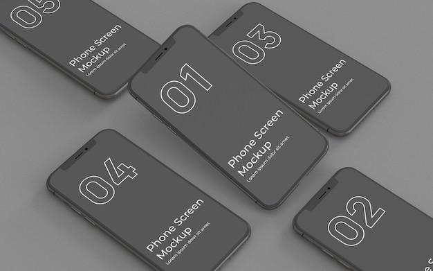Linke ansicht des schwarzen smartphone-modells