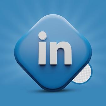 Linkedin 3d-symbol rendern