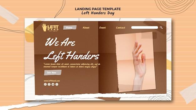 Linkshänder tag landing page thema