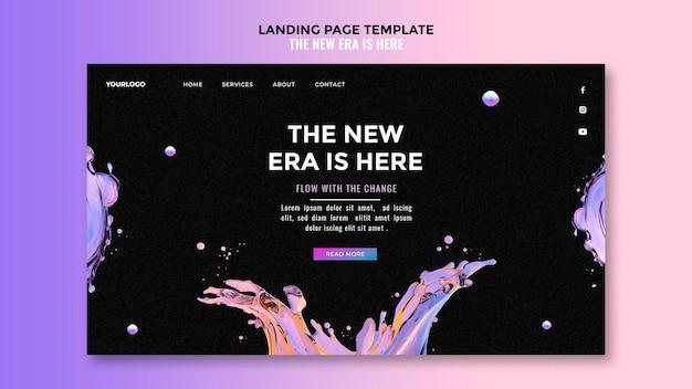 Liquid design landing page vorlage