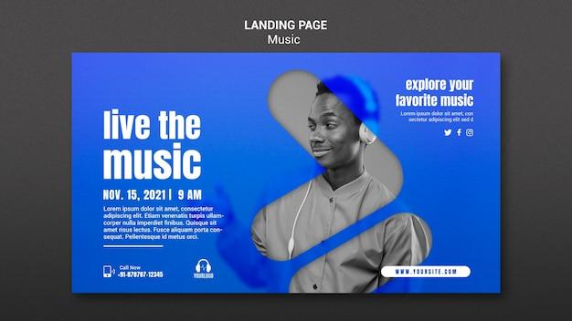Live die musik-landingpage