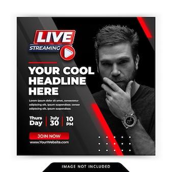 Live-streaming instagram post social media post vorlage