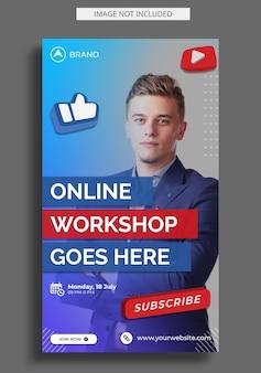 Live-streaming-workshop instagram story-vorlage