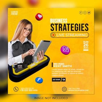 Live-streaming-workshop-marketingagentur und vorlage für social-media-beiträge für unternehmen