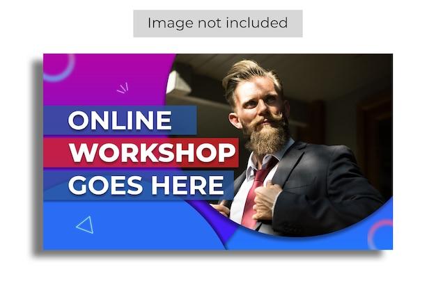Live-streaming-workshop youtube thumbnail-vorlage
