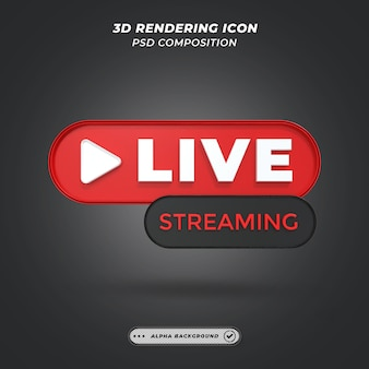 Live-video-streaming-element in 3d-rendering