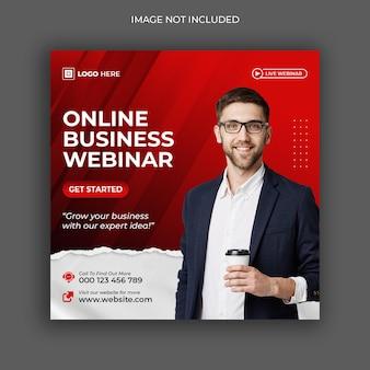 Live-webinar für digitales marketing in sozialen medien für unternehmen