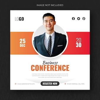 Live-webinar für digitales marketing und designvorlage für social-media-beiträge für unternehmen