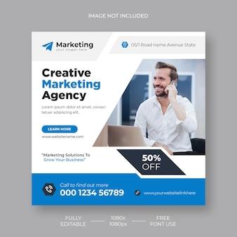 Live-webinar für digitales marketing und vorlage für social-media-beiträge für unternehmen kostenlose psd