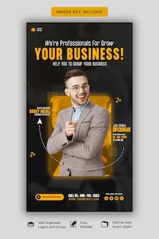 Live-webinar für digitales marketing und vorlage für unternehmens-facebook- und instagram-storys
