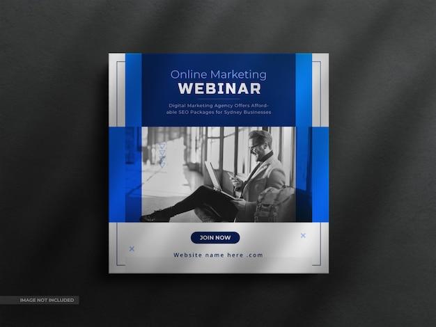 Live-webinar-social-media-post-vorlage und instagram-banner mit einer sauberen luxusvorlage