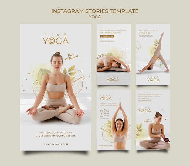 Live-yoga-instagram-geschichtensammlung