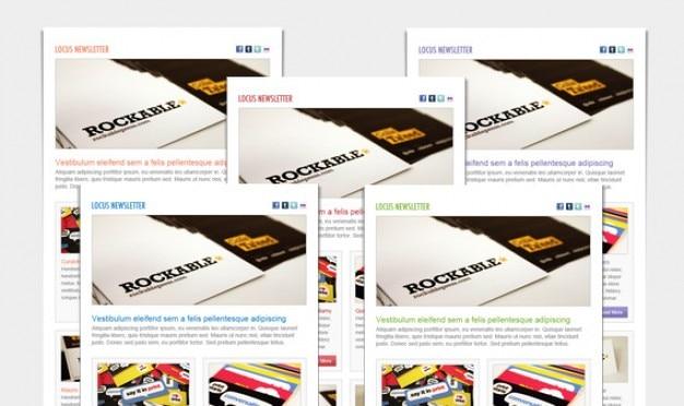 Locus newsletter layout
