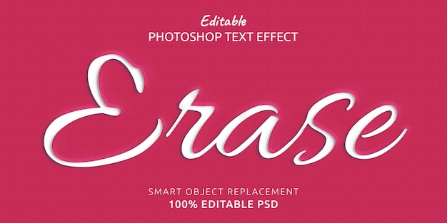 Löschen sie den bearbeitbaren photoshop-textstileffekt