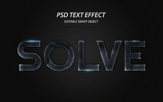 Lösen sie die designvorlage für texteffekte