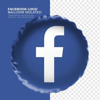 Logo facebook ballon 3d