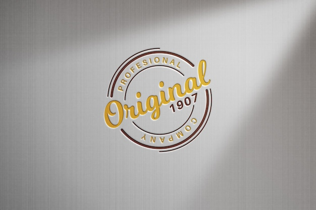 Logo im licht der leuchtstofflampen-modellvorlage